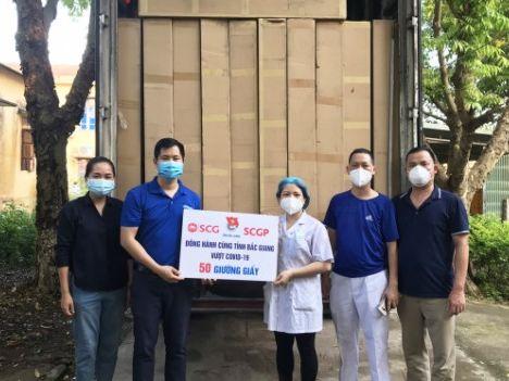 SCG tặng giường giấy cho các bệnh viện dã chiến tại Bắc Giang, Hải Dương
