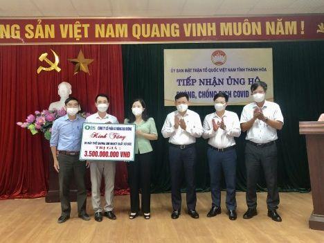 Xi măng Đại Dương đã ủng hộ 5 máy thở chức năng cao cho Ủy ban MTTQ tỉnh Thanh Hóa