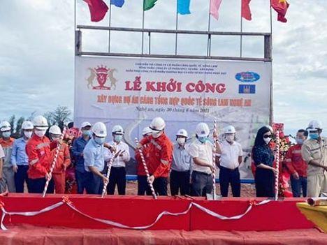 Khởi công xây dựng dự án Cảng Tổng hợp Quốc tế Sông Lam Nghệ An